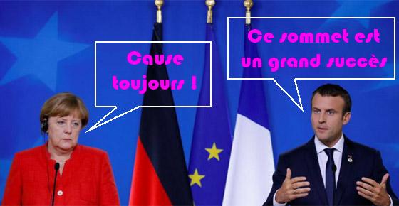 Markel à Macron : cause toujours !