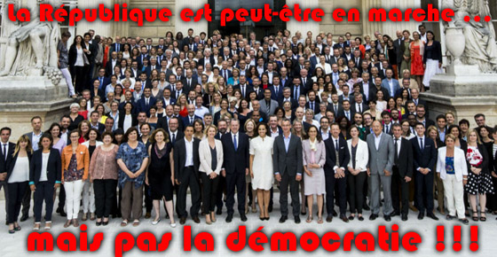 La République est peut-être en marche ... mais pas la démocratie !