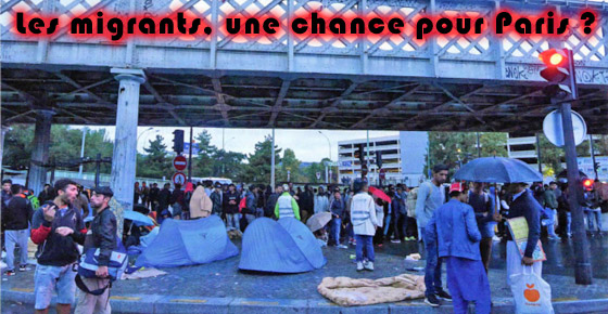 Camp de migrants Porte de la Chapelle