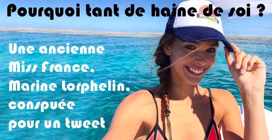 Marine Lorphelin conspuée pour un tweet