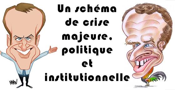 Un schéma de crise majeure, politique et institutionnelle