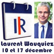 Elections LR – le candidat Laurent Wauquiez