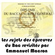 Les sujets des épreuves du bac sous Emmanuel Macron