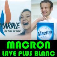 Macron lave plus blanc !