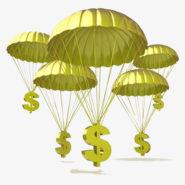 Un parachute très doré !